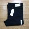 【デニム】UNIQLOストレッチセルビッチスリムフィットジーンズ(ブラック)の穿き込み
