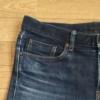 【デニム】UNIQLOのストレッチセルビッチスリムフィットジーンズの穿き込み開始から14