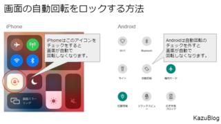 iPhoneの画面自動回転をロックする方法